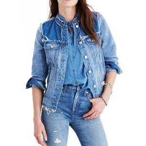 Madewell Distressed Blue Denim Jean Jacket